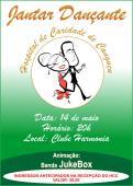 Convite para Jantar Dançante - Hospital de Caridade Canguçu
