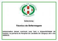 Hospital Seleciona Técnico de Enfermagem - Hospital de Caridade Canguçu