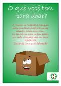 Convite para doações de bazar - Hospital de Caridade Canguçu