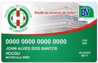 Modelo do cartão do Hospital de Caridade de Canguçu - Hospital de Caridade Canguçu